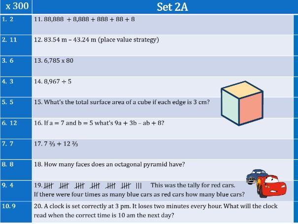 DISTANCE LEARNING 4x engaging math lessons (Set 2)