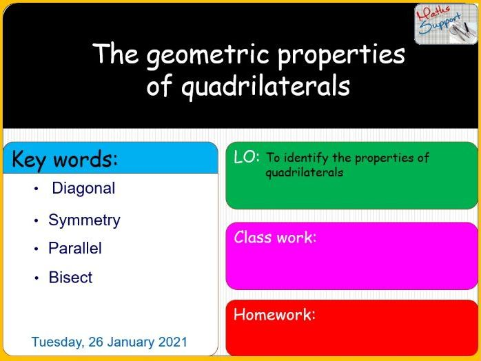 The geometric properties of quadrilaterals
