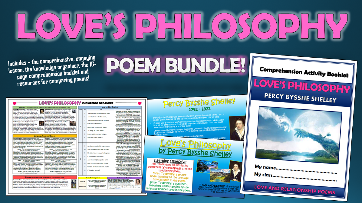 Love's Philosophy Poetry Bundle!
