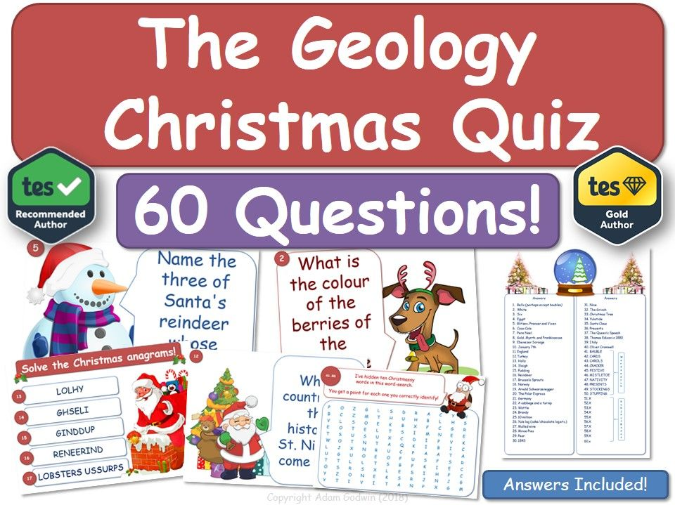 Geology Christmas Quiz!