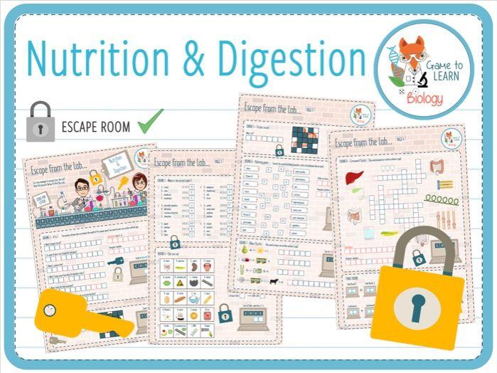 Nutrition & Digestion - Escape Room (KS3/4)