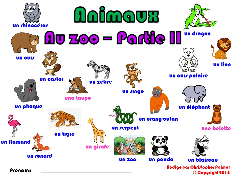 Primary French: Animals - Part II: At the Zoo (Key Stage 1 and Key Stage 2)