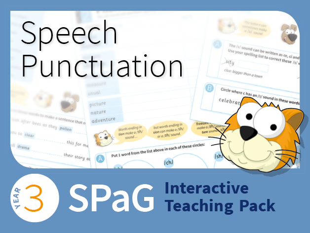 Year 3 SPaG Interactive Teaching Pack - Speech punctuation