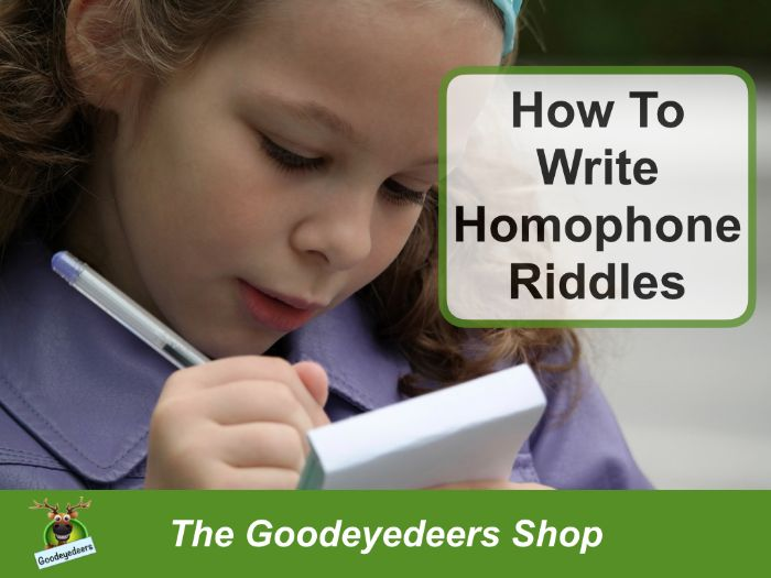 How To Write Homophone Riddles