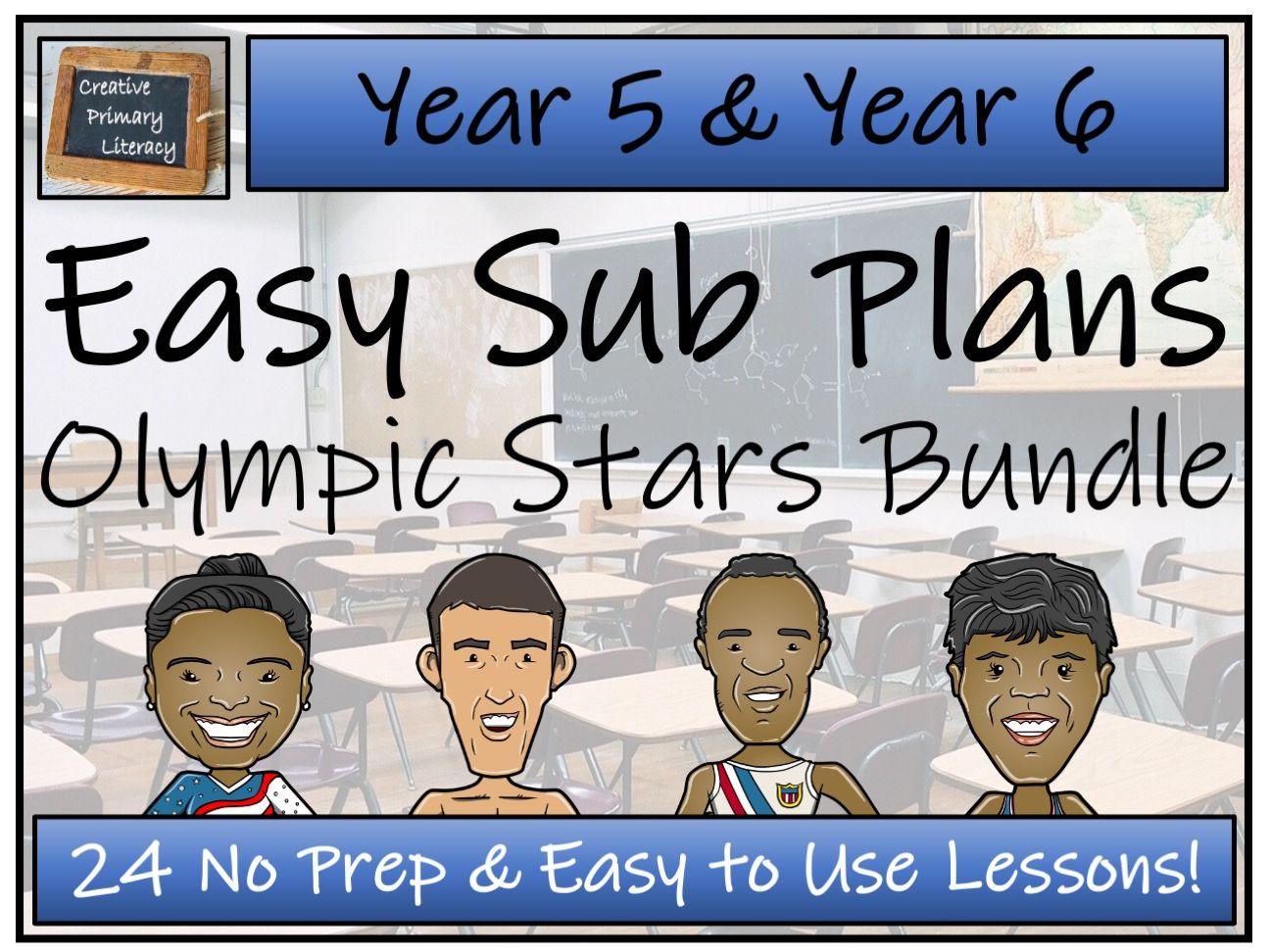 UKS2 Emergency Substitution Plans | Olympic Stars Bundle