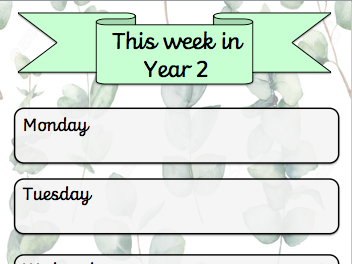 This Week In (Classroom Calender)