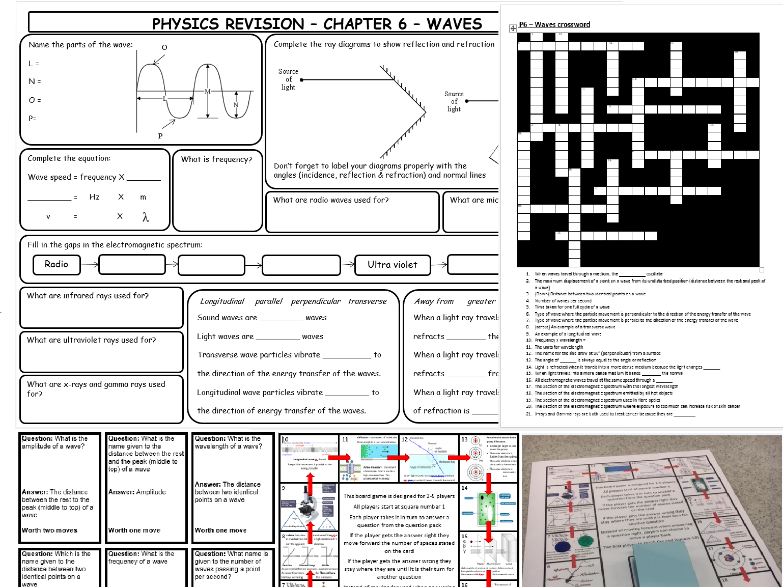 P6 - Waves revision material for AQA GCSE trilogy collins scheme of work