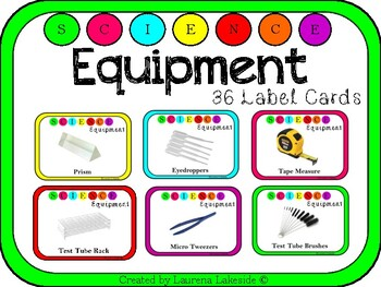 Science Equipment Labels: Ideal for Upper Elementary Upwards: STEAM