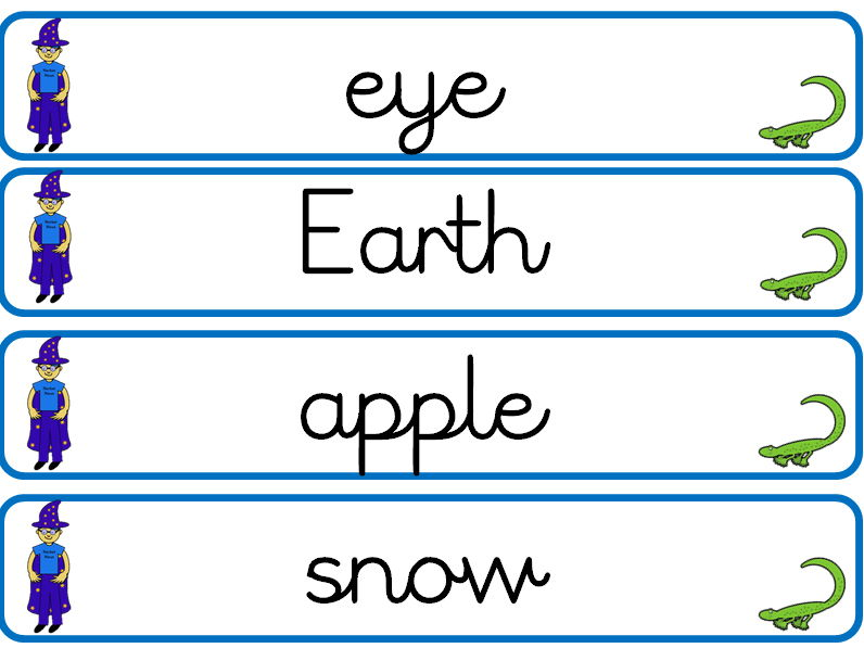 Noun word cards