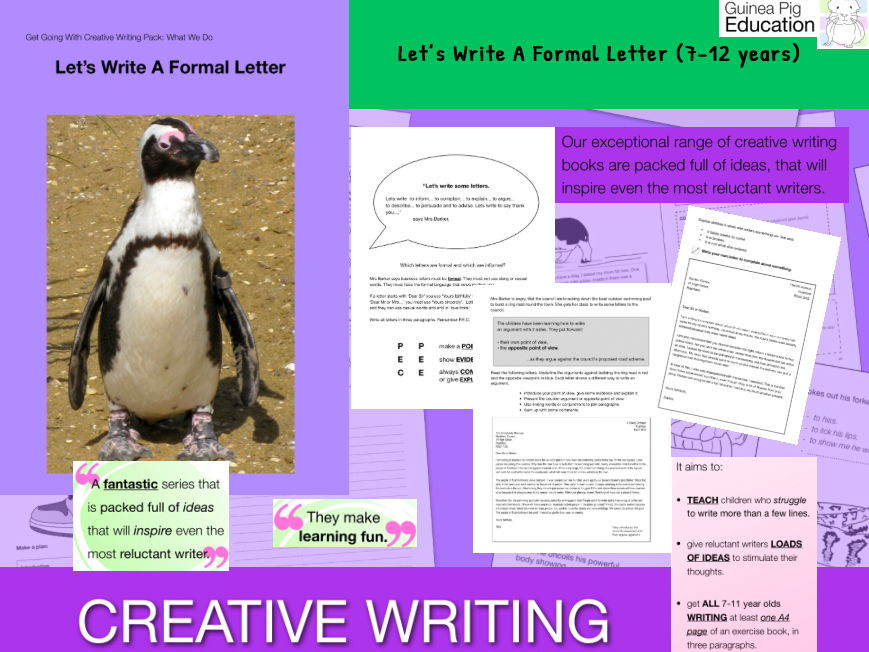 Lets Write A Formal Letter (7-13 years)