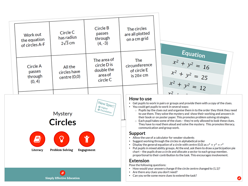 secondary mathematics teaching resources