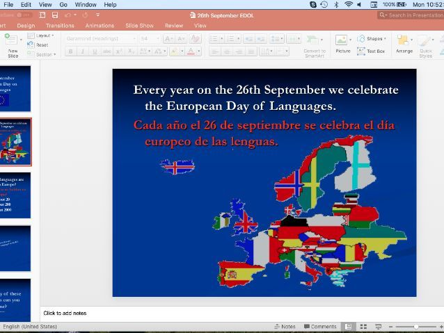 European Day of Languages Quiz, Yr6