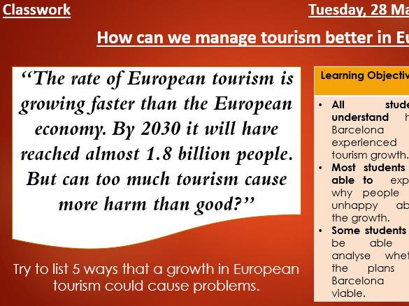 Barcelona - Case study lesson on Tourism