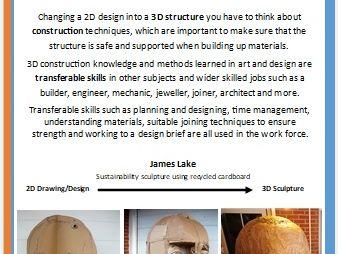 Numeracy links in Art & Design