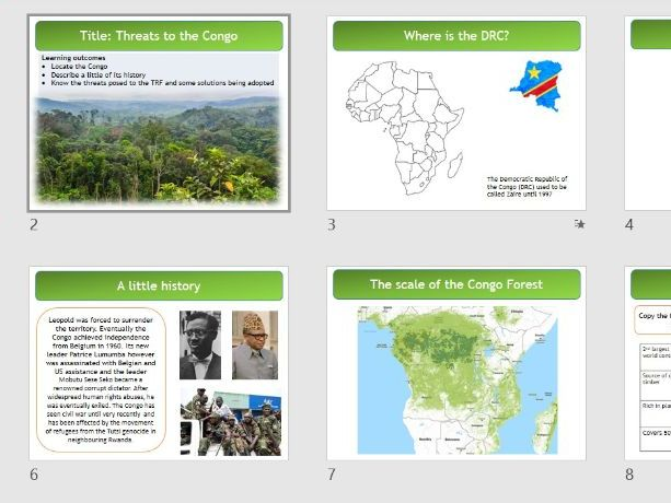 Resourceful World  - OCR R407 Entry level geography - 6 lessons  - SEN