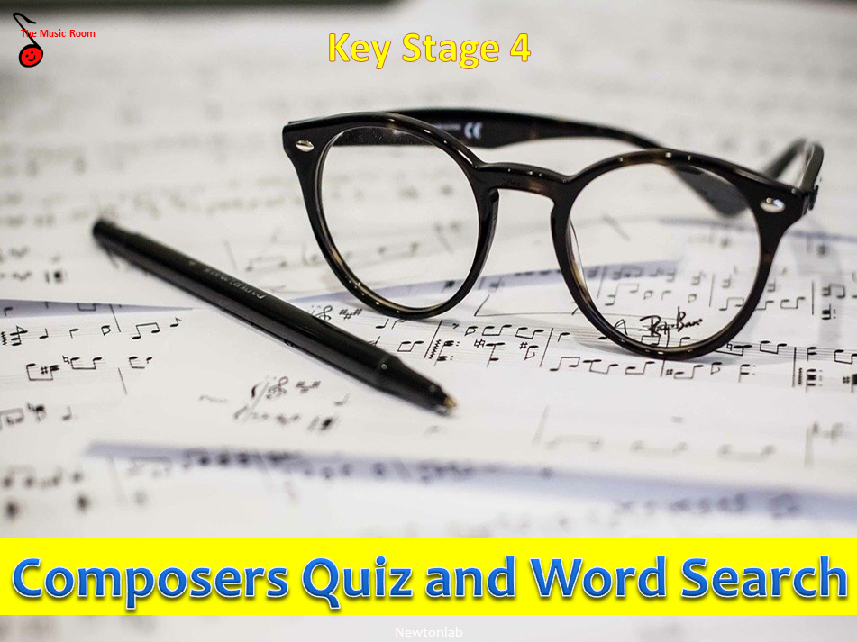 Composers Quiz and Word Search - Key Stage 4