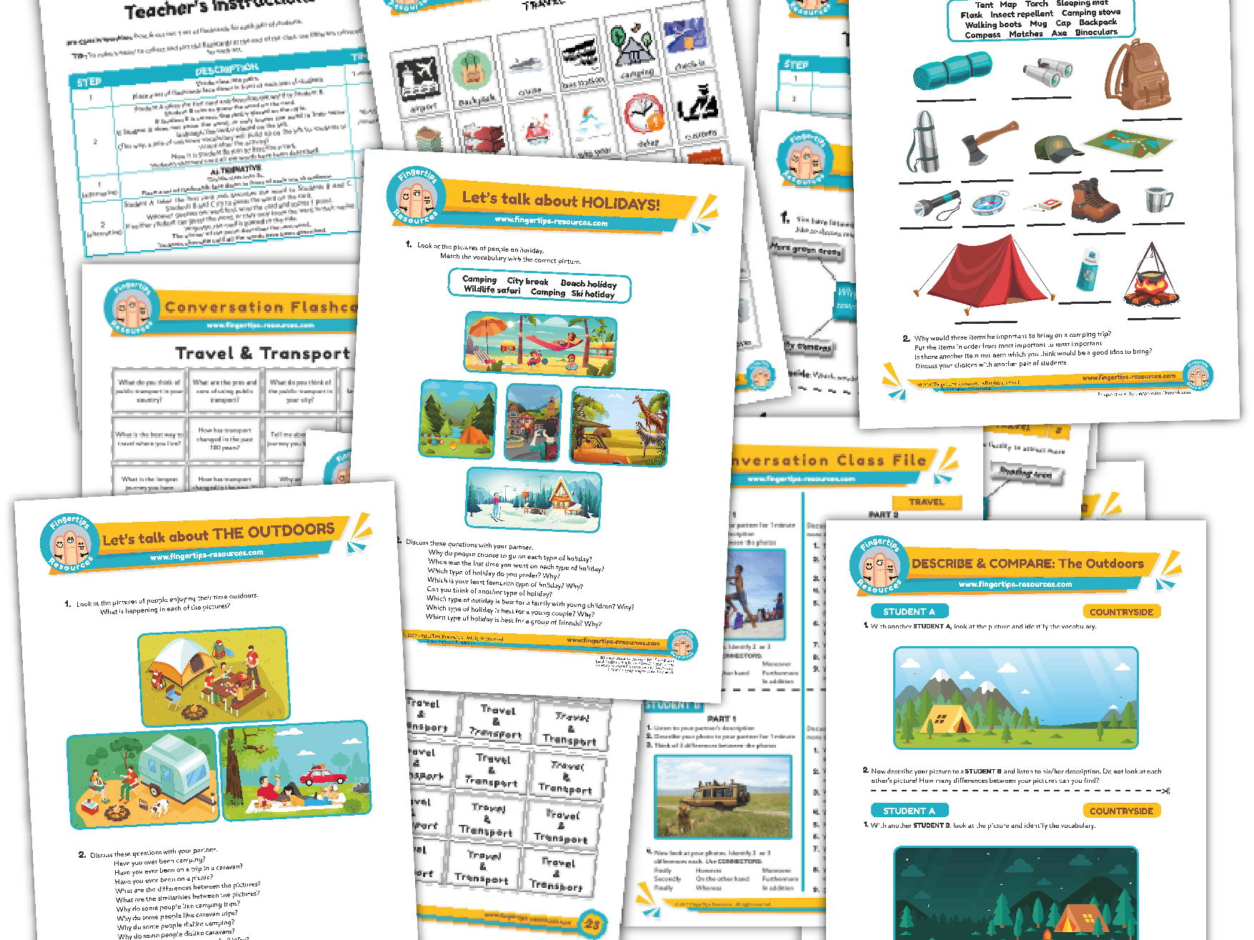 Travel & Holidays Unit - ESL Activity Bundle