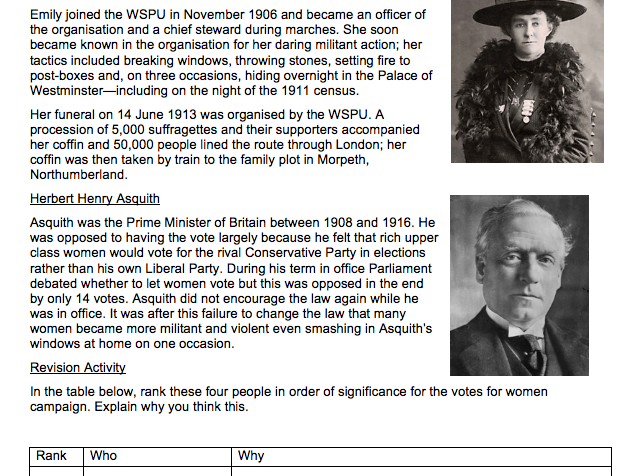 Y8 Autumn 2 homework booklet 'The emergence of Modern Britain' HISTORY KS3