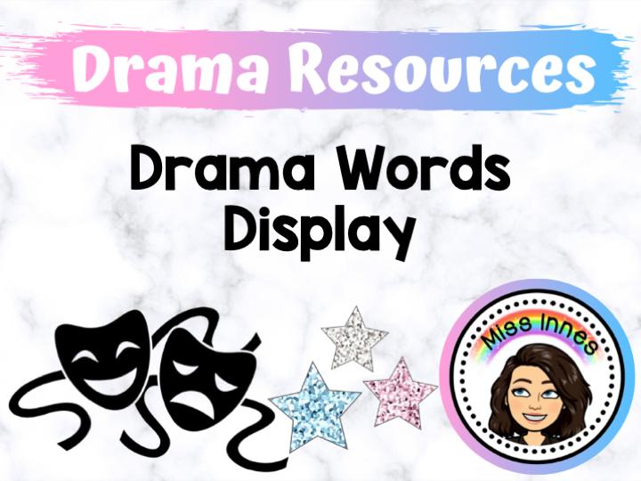 Drama Words Display