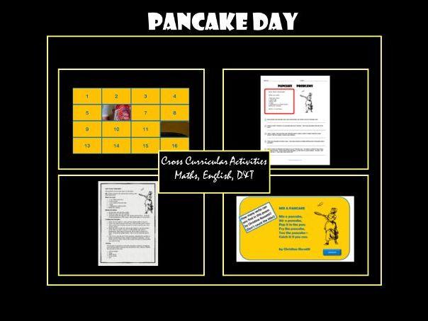 Pancake Day: Cross-Curricular Activities, Maths, English
