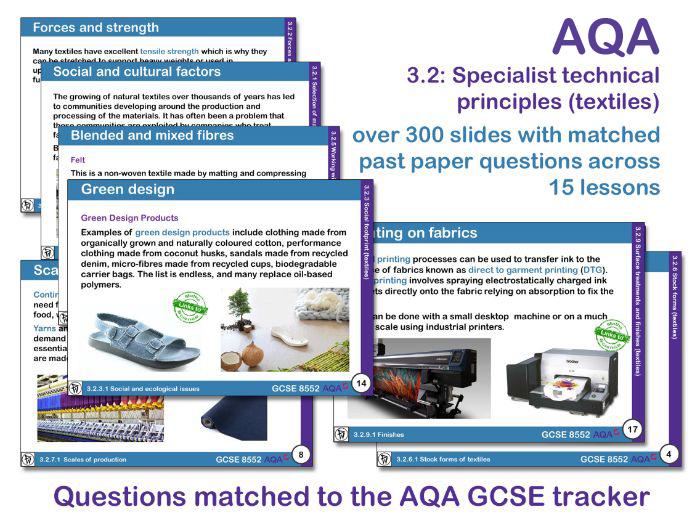 AQA GCSE Design and Technology 3.2: Specialist technical principles (Textiles)