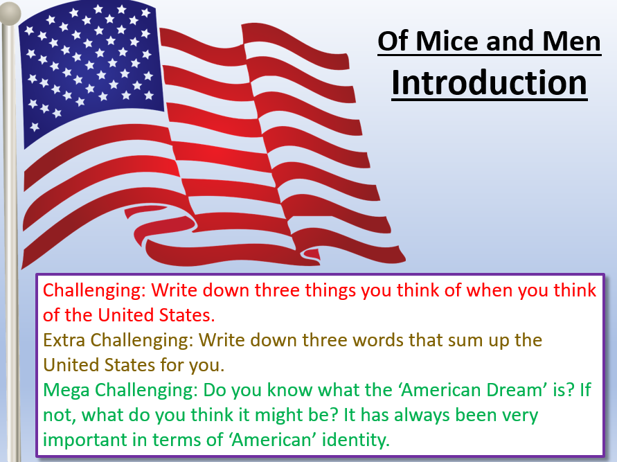 Of Mice and Men - Introduction and Context