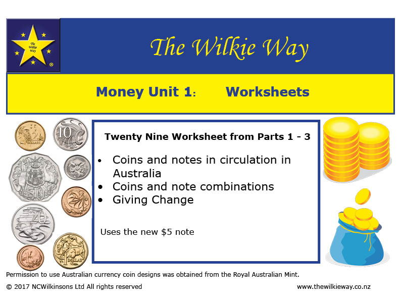 Working with Australian Money Worksheets