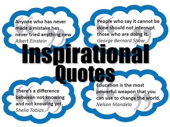 Motivational/inspiration Quotes - Design and Technology Display