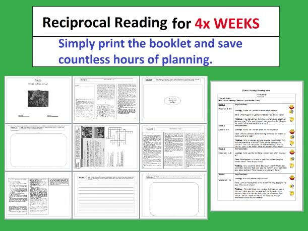 3# - Reciprocal Reading Booklet - 4 weeks of activities - Nails - by Paul Jennings - guided reading