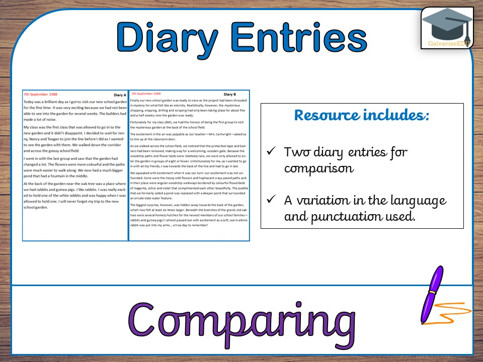 features of a diary entry