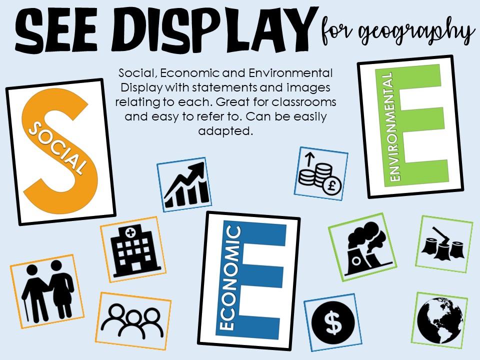 Social, Economic & Environmental Display