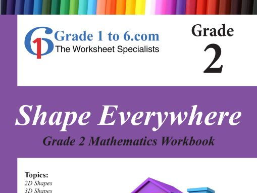 Shapes: Grade 2 Maths Workbook from www.Grade1to6.com Books
