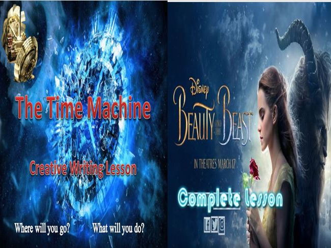 Beauty and the Beast Descriptive Writing + The Time Machine and a Literacy Game