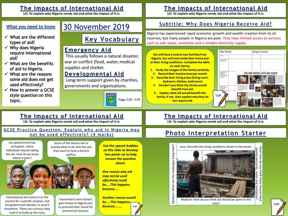 Nigeria: The Impacts of International Aid