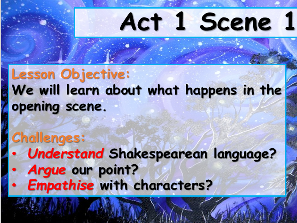 A Midsummer Night's Dream - Act 1 and 2