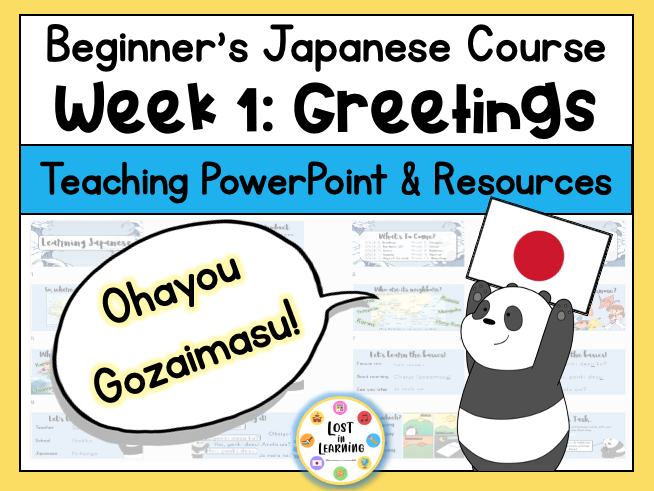 Japanese for Beginners || Week 1 of 10 || Greetings & Introduction