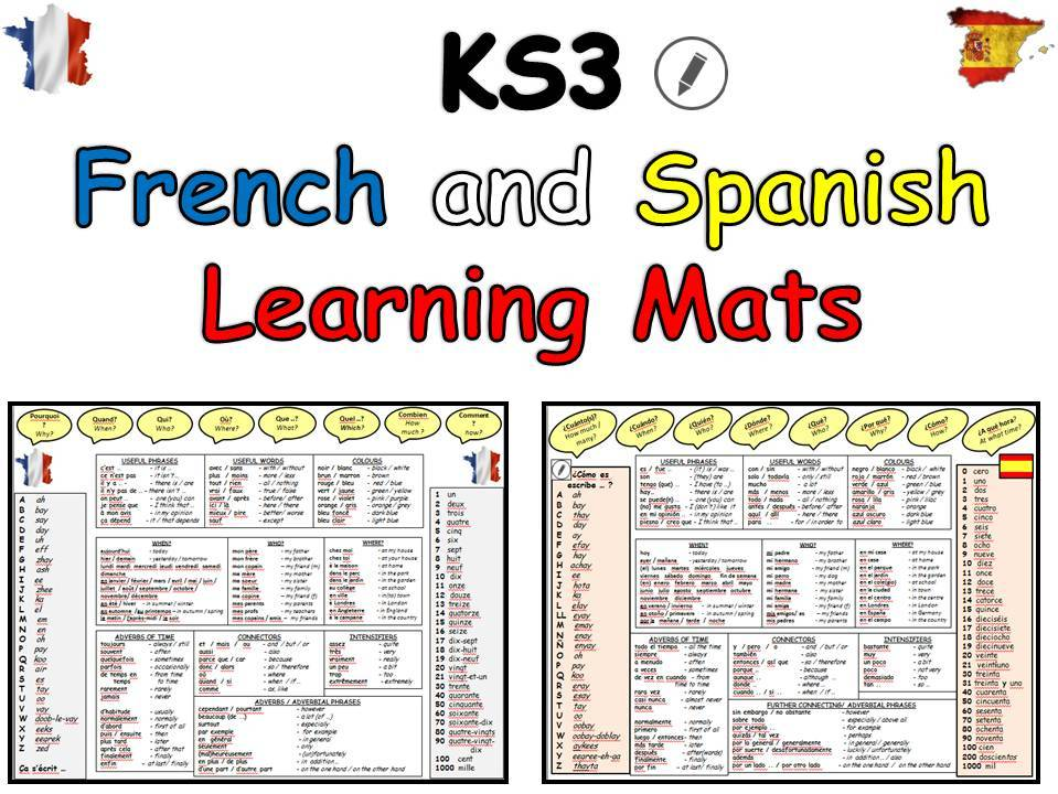 French and Spanish KS3  Learning Mats