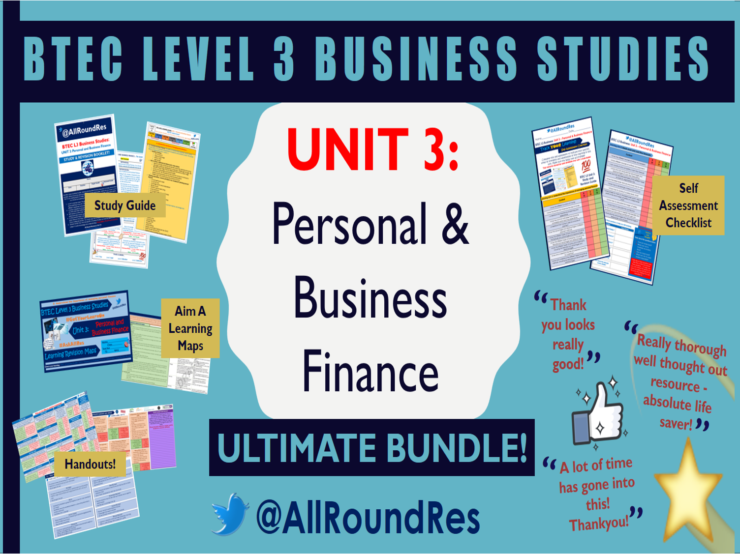 @AllRoundRes BTEC L3 Business Studies UNIT 3 BUNDLE!