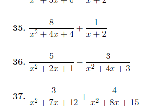 10 Algebra worksheets (with detailed solutions)