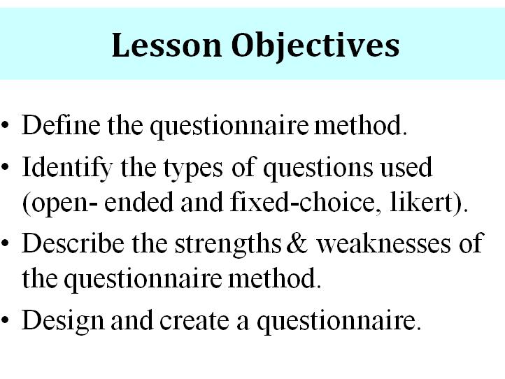 Survey Methods in Psychology