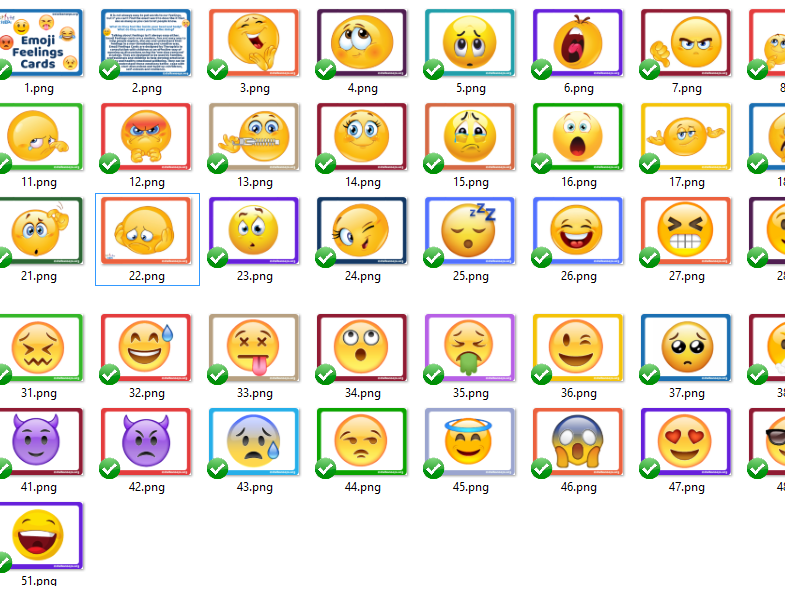 A4 Emoji feelings posters for classrooms emotional literacy