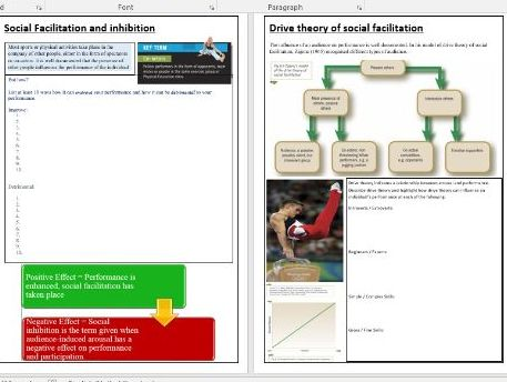 OCR A Level PE - Sports Psychology ILT6 - Social Facilitation and Inhibition.