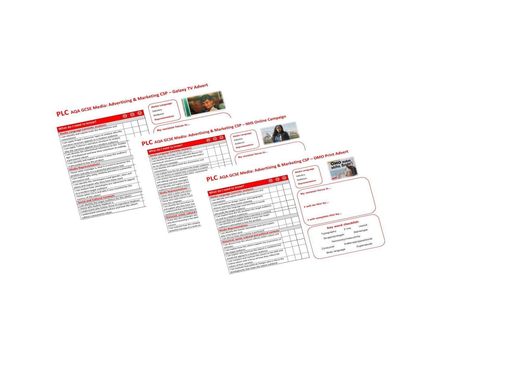 AQA GCSE Media Adv & Marketing PLCs