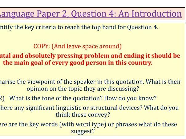 Language Paper 2 Q4- Guns in schools