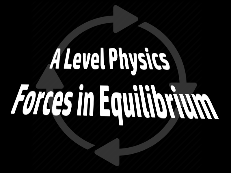 A Level Physics Forces In Equilibrium 1: Vectors and Scalars