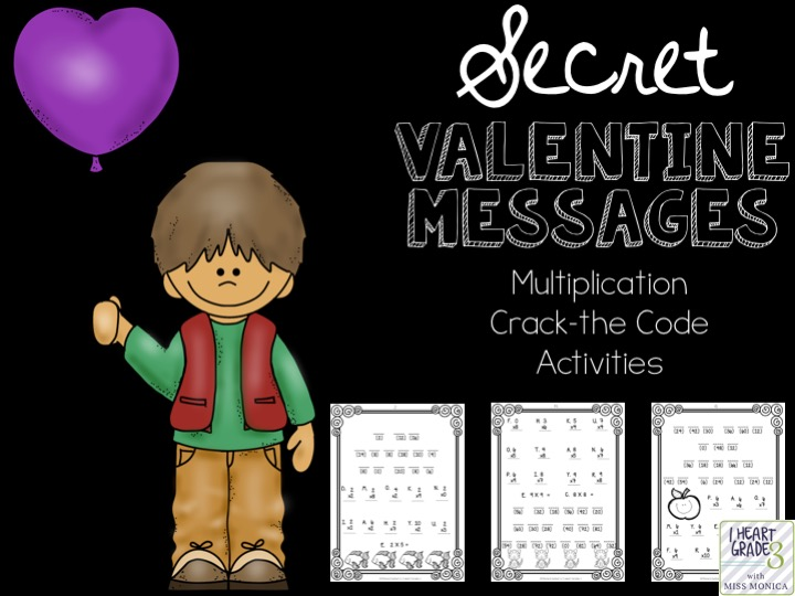 Valentine Secret Multiplication Math Messages