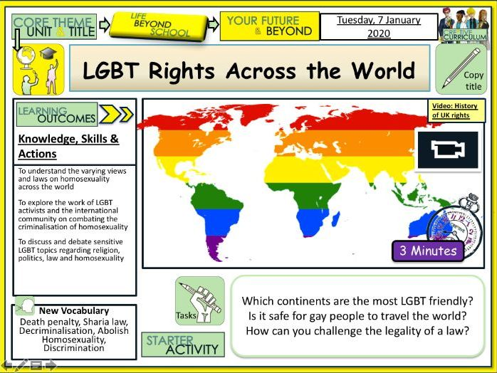 LGBT Rights Across the World  PSHE