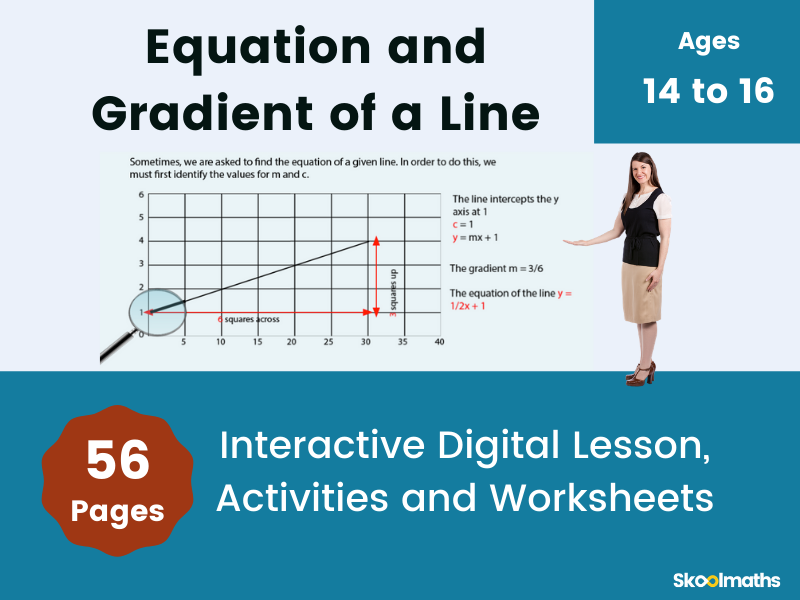 Equation and Gradient of a Straight Line - GCSE
