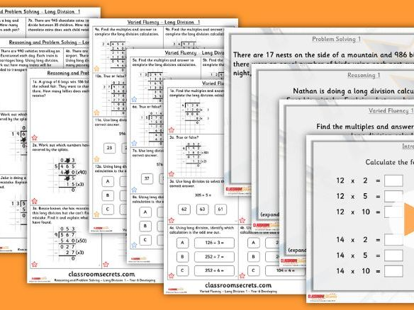 Year 6 Long Division 1 Autumn Block 2 Step 5 Lesson Pack