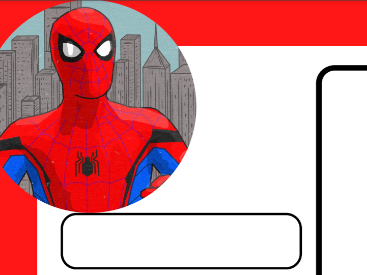 Spider man one page profile
